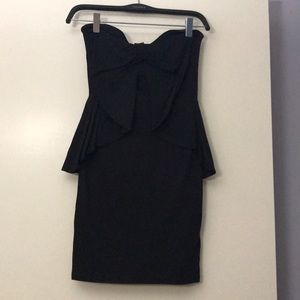 H&M strapless bow front dress